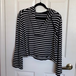 Splendid Striped Cropped Pullover